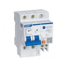 Дифференциальный автоматический выключатель nxble-63Y 1P+N C6 30мА, тип ac, 4.5kA, Chint [105540]