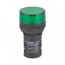 Индикатор nd16-22ds/2 ac/dc 24v Зеленый, Chint [592940]