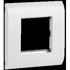Лицевая рамка для модуля Mosaic, 80х80мм, белая, иек [cs5-12m]
