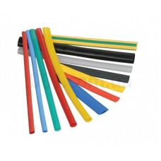 Набор т/у трубки диаметр5,0/2,5 черная (10шт * 10см) Аско [a0150040145]