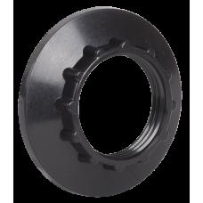 (опт) Кольцо к патрону Е14 пластик черный иек [opt_ekp20-02-02-k02]