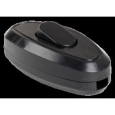 Выключатель 1-клавишный разборный для бра ВБ-01Ч черный, иек [evb10-k02-10]