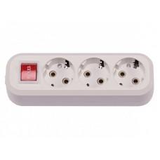 3-я колодка с заземляющим контактом и выключателем (7231)