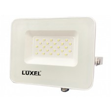 Светодиодный белый прожектор Luxel 162х144х28мм 175-260V 20W IP65 (LED-LPEW-20С)