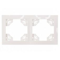 Рамка 2-я горизонтальная BRAVO (5022) белый