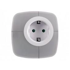 Светодиодный ночник с розеткой с переключаемыми цветами  Luxel 0,6W (NL-03W)