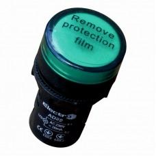 Светосигнальный индикатор ElectrO AD22 LED матрица 22mm зеленая 110В АС/DC (AD22G110)