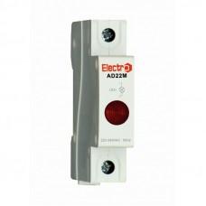 Светосигнальный индикатор ElectrO AD 22M красный неон , 230В на DIN-рейку (AD22MNR)