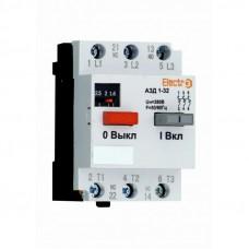 Автоматический выключатель двигателя ElectrO АЗД 1-32 3 полюса 6,3А - 10A 380В (AZD3206310)