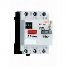 Автоматический выключатель двигателя ElectrO АЗД 1-32 3 полюса 4А - 6,3A 380В (AZD3204063)