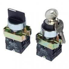 Кнопка ElectrO ВD33 3-х позиционный переключатель 29mm NO + NC (BD33NONC)