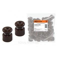 Керамический изолятор для ретро провода коричневый (100шт)