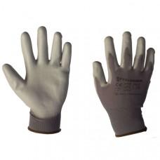 Перчатки TRIARMA нейлоновые с покрытием ПУ PU1350-DG / DG (серого цвета)