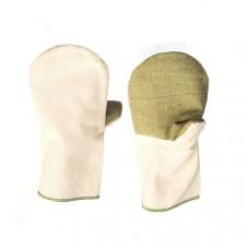 Перчатки хлопчатобумажные с двойным брезентовым наладонником ОП, пл.450