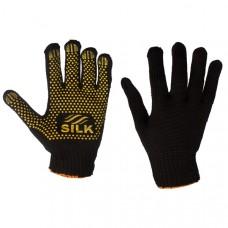 Перчатки трикотажные вязаные с ПВХ-точкой / 10032 / SL