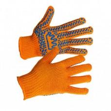 Перчатки трикотажные вязаные с ПВХ-точкой КОРОНА ВТ