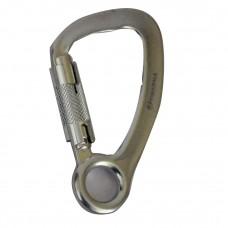 Карабин алюминиевый с автоматически муфтой и кольцом Triarma / S-2149 /